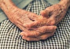 old hands in social care